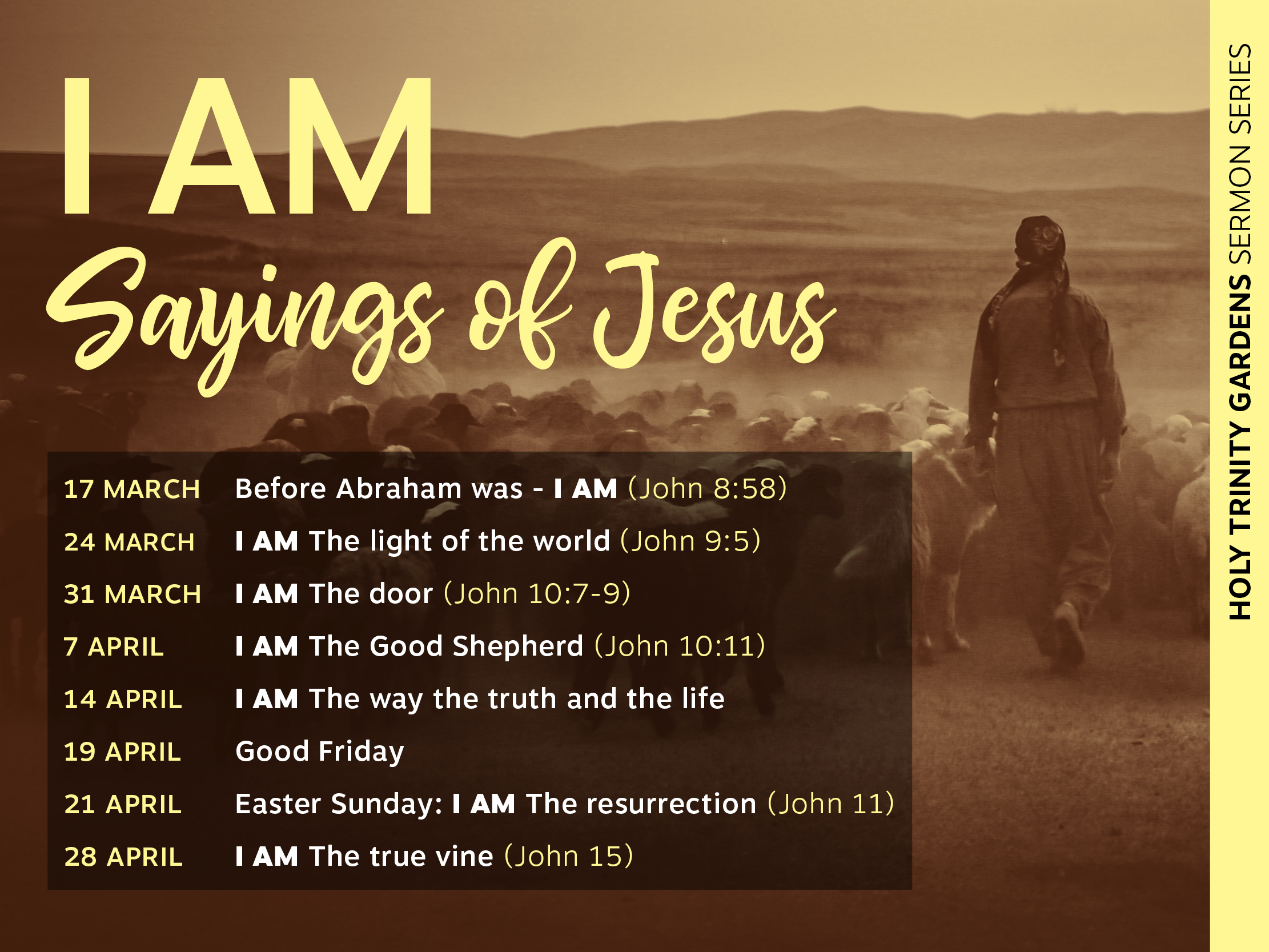 Before Abraham was – I AM